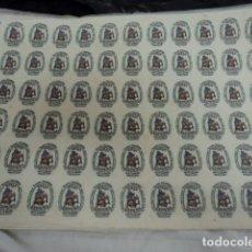 Antigüedades: ANTIGUA PLANCHA CALCO PEGATINA ETIQUETAS FABRICA PORCELANA TALAVERA SAN CLAUDIO OVIEDO ASTURIAS. Lote 248277850