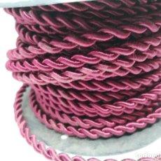 Antigüedades: CABLE ENTELADO EN COLOR ROJO. 19 METROS. Lote 248385255