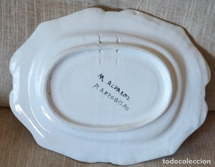 Antigüedades: ANTIGUA BANDEJA DE CERAMICA DE PUENTE DEL ARZOBISPO - Foto 7 - 248418555