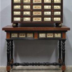 Antiquités: BARGUEÑO DE MADERAS NOBLES Y HUESO. FIMARDO J. V. MOLERO. SIGUIENDO MODELOS SIGLO XVII. Lote 248426685