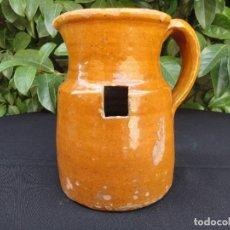 Antigüedades: ALFARERÍA CATALANA: MEDIDA DE VINO DE MIRAVET. Lote 248455440