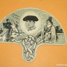 Antigüedades: ANTIGUO ABANICO TIPO PAY-PAY CON PUBLICIDAD DE BODEGAS *AQUI ME QUEDO* DE VALENCIA. Lote 248514850
