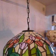 Antiguidades: LAMPARA DE TECHO-TIFFANY-. Lote 248559460