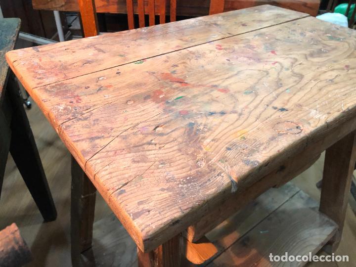 Antigüedades: MUY ANTIGUA MESA TOCINERA DE TRABAJO REALIZADA EN PINO - MEDIDA 68X43X69 CM - Foto 3 - 248601390