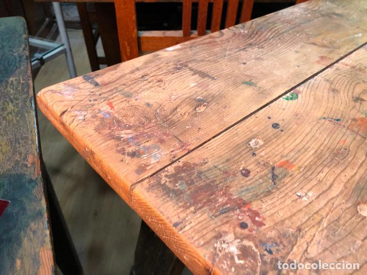 Antigüedades: MUY ANTIGUA MESA TOCINERA DE TRABAJO REALIZADA EN PINO - MEDIDA 68X43X69 CM - Foto 5 - 248601390