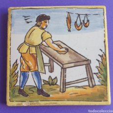 Antigüedades: BALDOSA AZULEJO CERÁMICA CATALANA ARTE Y OFICIOS. Lote 248677785