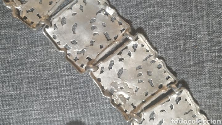 Antigüedades: Cinturón de plata vieja, Artesanal - Foto 2 - 248709300