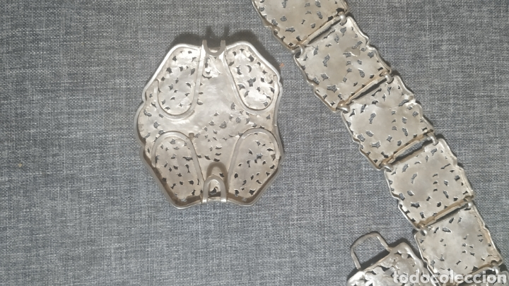 Antigüedades: Cinturón de plata vieja, Artesanal - Foto 3 - 248709300