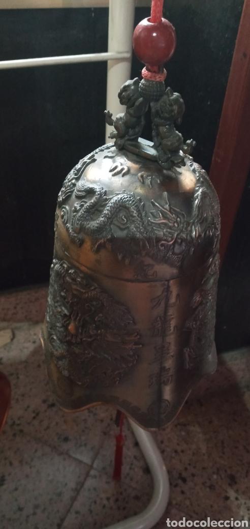 Antigüedades: GRAN CAMPANA TIBETANA.PERROS FU.FENG SHUI.BUDISMO.MEDITACIÓN - Foto 3 - 248754300