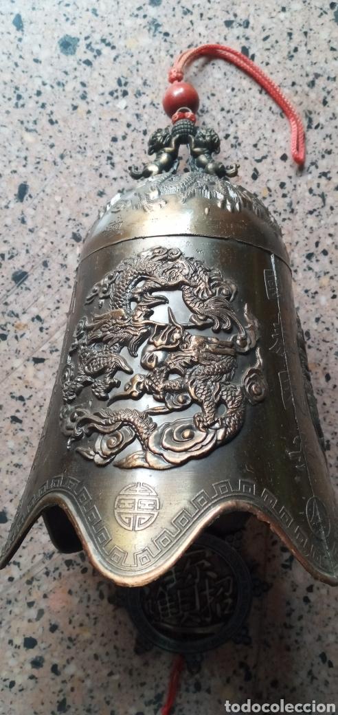 Antigüedades: GRAN CAMPANA TIBETANA.PERROS FU.FENG SHUI.BUDISMO.MEDITACIÓN - Foto 7 - 248754300