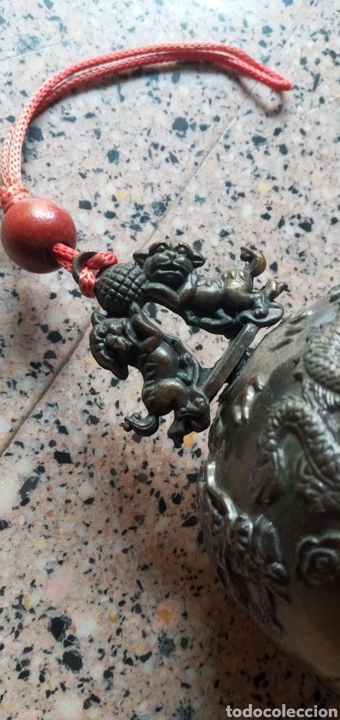 Antigüedades: GRAN CAMPANA TIBETANA.PERROS FU.FENG SHUI.BUDISMO.MEDITACIÓN - Foto 9 - 248754300