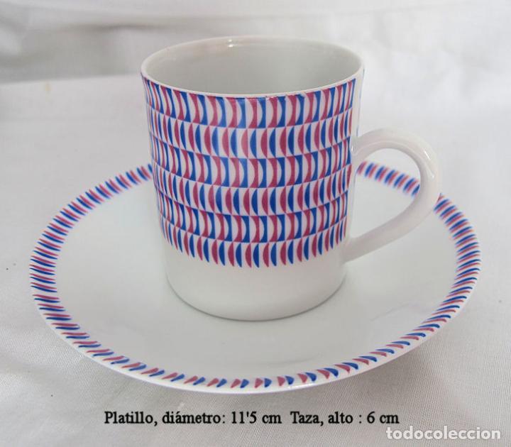 Antigüedades: ANTIGUO JUEGO DE CAFE PORCELANA DE CASTRO SARGADELOS 1967 - Foto 2 - 248756625