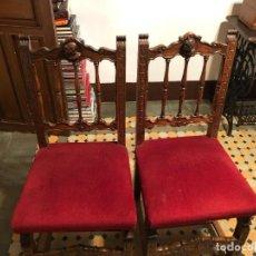 Antigüedades: 2 SILLAS DE DESPACHO.. Lote 246601590