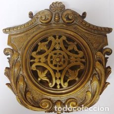 Antigüedades: ANTIGÜA MIRILLA MODERNISTA PARA PUERTA EN BRONCE DE LA EPOCA DEL SIGLO XIX. Lote 248790225