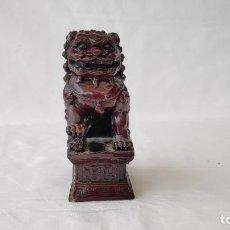 Antigüedades: PESADA ESCULTURA DE PERRO DRAGÓN FOO CHINO - DRAGONES FU. Lote 248793055