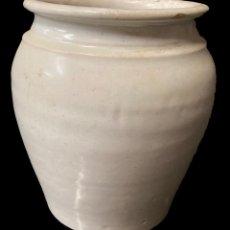 Antigüedades: ANTIGUA ORZA, CAZUELA, VASIJA DE CERÁMICA VASCA, ORIGINAL. S. XIX. 17X16X16. Lote 248825135