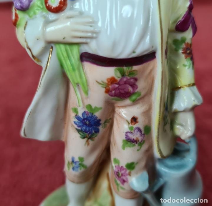 Antigüedades: JARDINERO. LÁPARA DE POECELANA ESMALTADA. WILLIAM GOEBEL. ALEMANIA. CIRCA 1920. - Foto 8 - 248962560