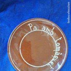 Oggetti Antichi: PA AMB TOMAQUET PLATO 23X3 CM. Lote 249163860