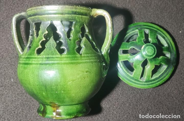 Antigüedades: Antiguo jarrón incensario Úbeda - Foto 2 - 249164740