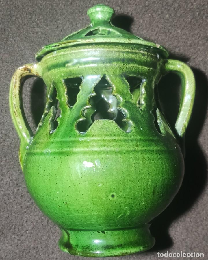 Antigüedades: Antiguo jarrón incensario Úbeda - Foto 3 - 249164740