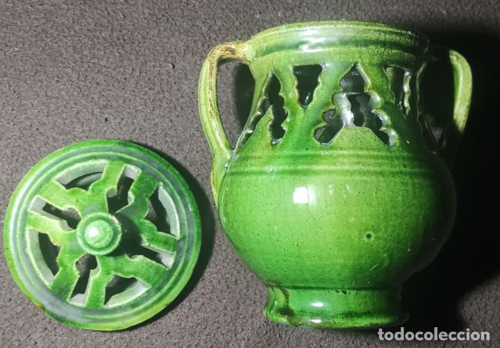 Antigüedades: Antiguo jarrón incensario Úbeda - Foto 4 - 249164740