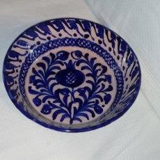 Antigüedades: FUENTE, LEBRILLO CERÁMICA AZUL DE FAJALAUZA.. Lote 249185210