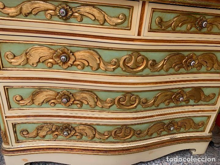 Antigüedades: Encantadora comoda o sifonier, policromada y con pomos de porcelana. en muy buen estado - Foto 11 - 249192375