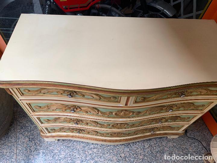 Antigüedades: Encantadora comoda o sifonier, policromada y con pomos de porcelana. en muy buen estado - Foto 12 - 249192375