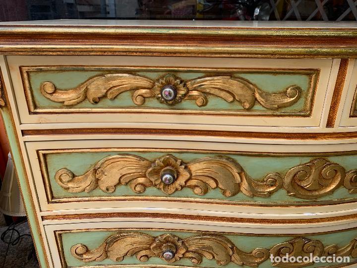 Antigüedades: Encantadora comoda o sifonier, policromada y con pomos de porcelana. en muy buen estado - Foto 13 - 249192375