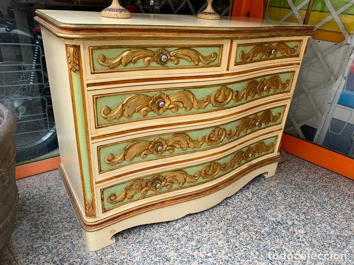 Antigüedades: Encantadora comoda o sifonier, policromada y con pomos de porcelana. en muy buen estado - Foto 15 - 249192375