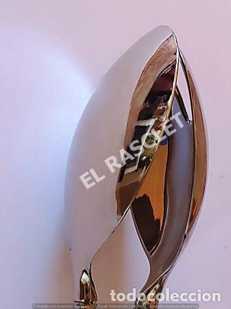 Antigüedades: CUCHARA SERVIR TIPO PINZA EN METAL BRILLANTE PLATA MODE ITALY - Foto 13 - 249209480