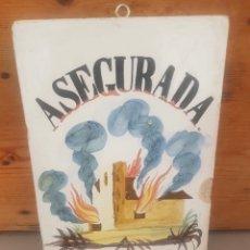 Antiquités: BALDOSA BARRO ASEGURADA. Lote 249268300