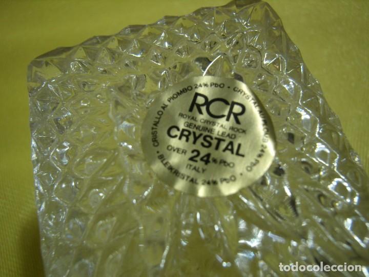 Antigüedades: Caja de cristal de Royal Cristal Rock Italia 24% PBO plomo, años 80, Nueva sin usar. - Foto 7 - 249288365