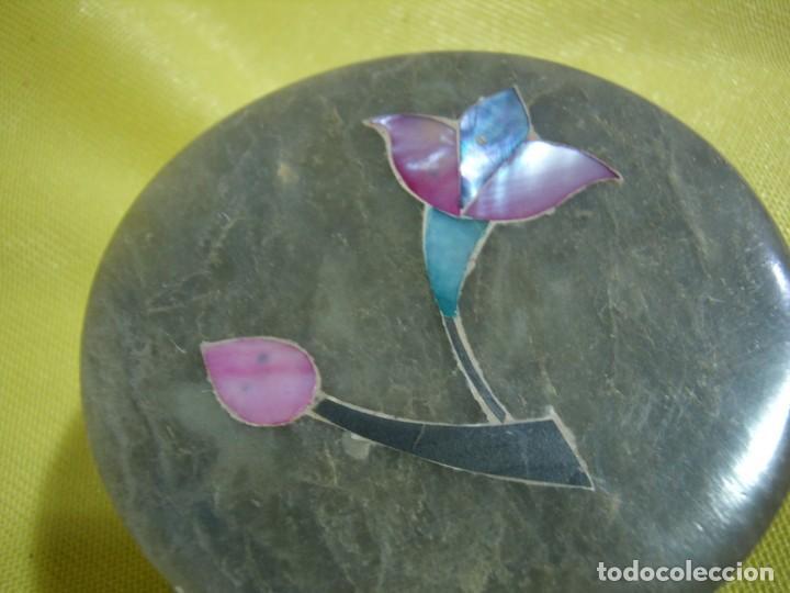 Antigüedades: Caja joyero mármol, decoración Nácar, años 90 - Foto 2 - 249296870