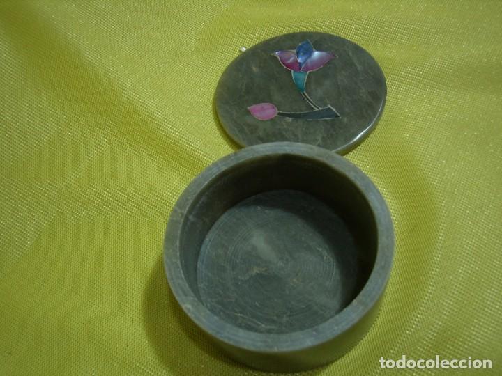 Antigüedades: Caja joyero mármol, decoración Nácar, años 90 - Foto 5 - 249296870