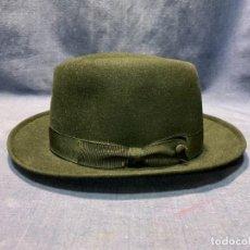 Antigüedades: SOMBRERO CABALLERO LE MARK CUSTOM HATTER BEAVER NEW YORK TALLA 7. Lote 249313900