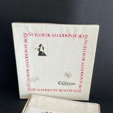Antigüedades: CAJA 6 PAÑUELOS DE ALGODON PURO CAMALEON, SEÑORA, REF. 2301, BLANCOS, 1970S. Lote 249318425