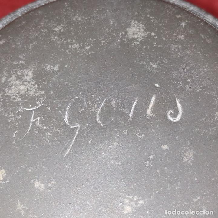Antigüedades: JARRA DE CERVEZA. MARCAS F. LEYS. PORCELANA ESMALTADA. ESTAÑO. HOLANDA (?). SIGLOXIX - Foto 8 - 249467825