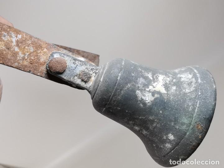 Antigüedades: ANTIGUO LLAMADOR TIMBRE DE CAMPANA BRONCE.CATALUÑA SIGLO XIX-CONVENTO-MASIA-REF-MO - Foto 19 - 249472840
