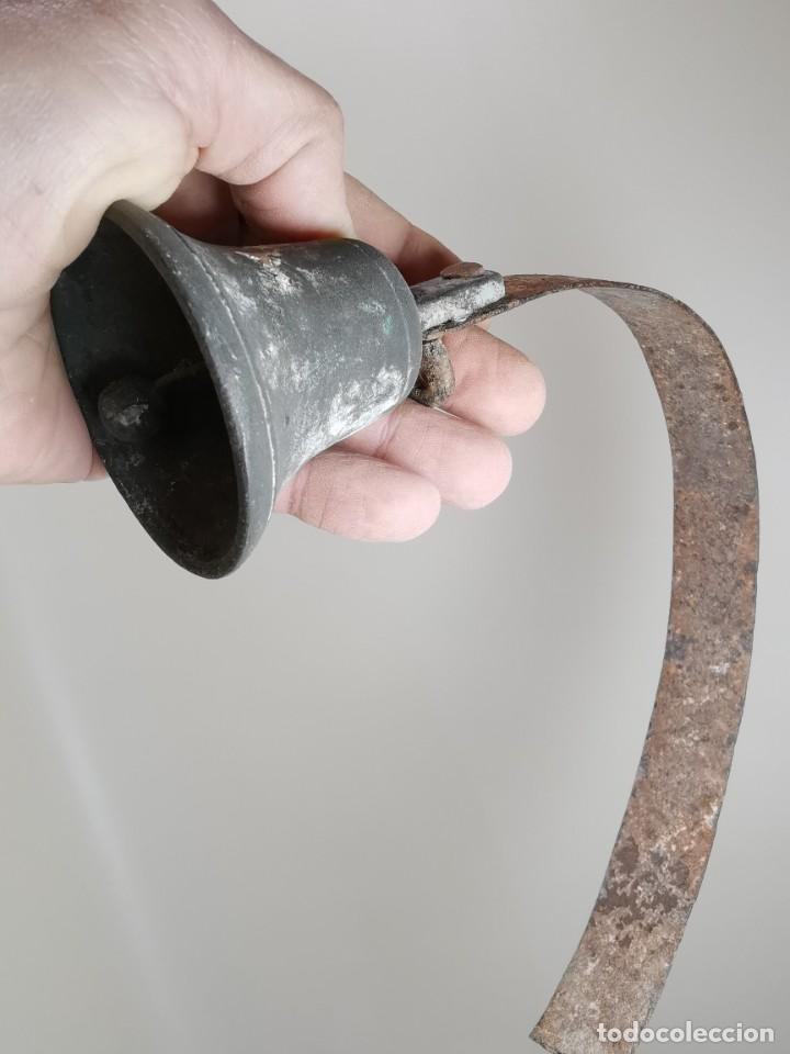 Antigüedades: ANTIGUO LLAMADOR TIMBRE DE CAMPANA BRONCE.CATALUÑA SIGLO XIX-CONVENTO-MASIA-REF-MO - Foto 33 - 249472840