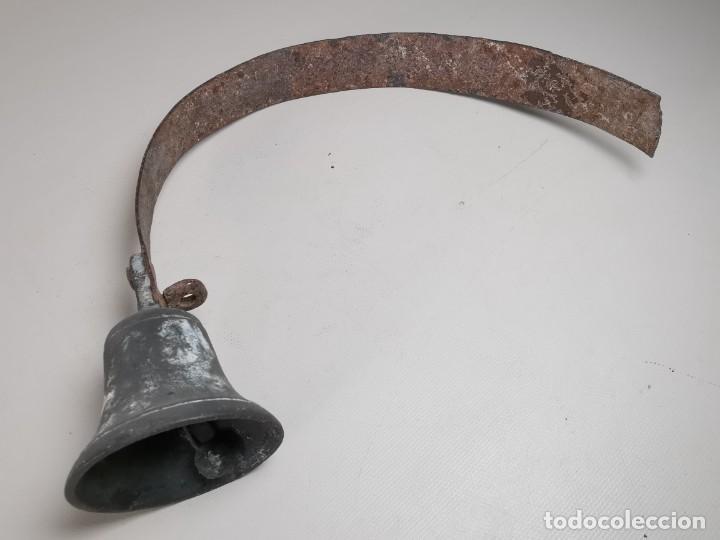 Antigüedades: ANTIGUO LLAMADOR TIMBRE DE CAMPANA BRONCE.CATALUÑA SIGLO XIX-CONVENTO-MASIA-REF-MO - Foto 43 - 249472840