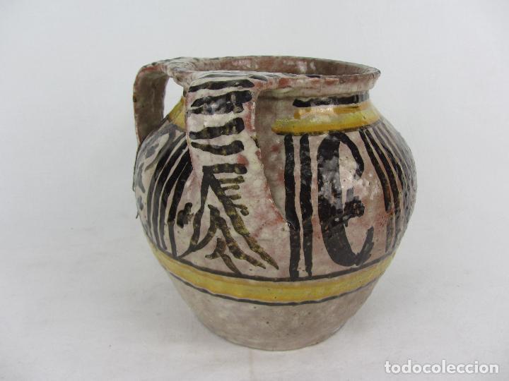 Antigüedades: Jarra en cerámica de doble asa posiblemente Puente del Arzobispo - s.XIX - Foto 5 - 249493145