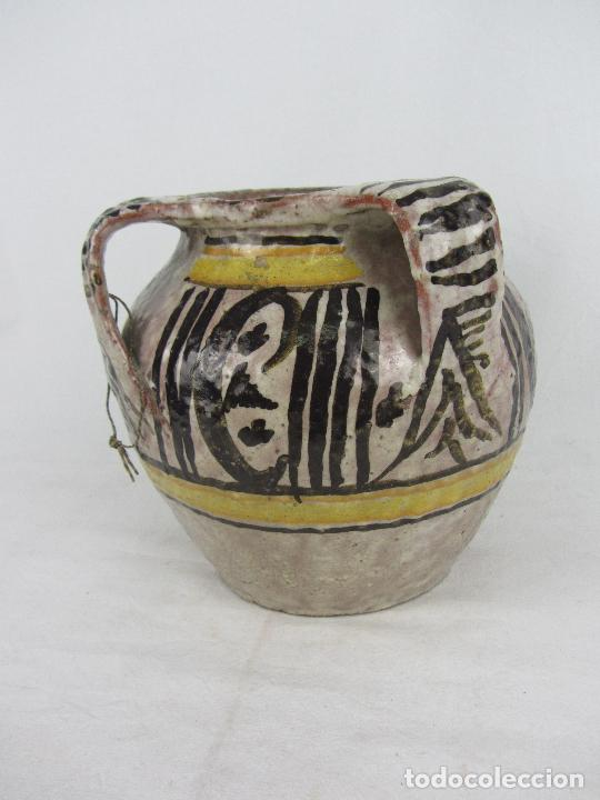 Antigüedades: Jarra en cerámica de doble asa posiblemente Puente del Arzobispo - s.XIX - Foto 8 - 249493145