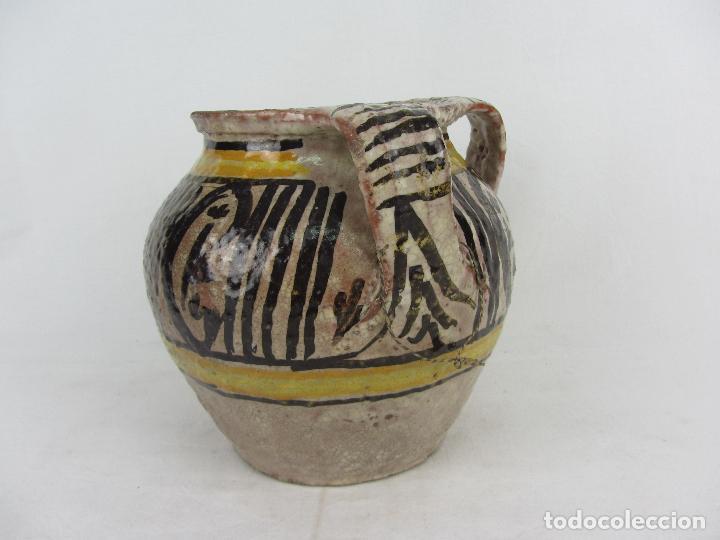 JARRA EN CERÁMICA DE DOBLE ASA POSIBLEMENTE PUENTE DEL ARZOBISPO - S.XIX (Antigüedades - Porcelanas y Cerámicas - Puente del Arzobispo )