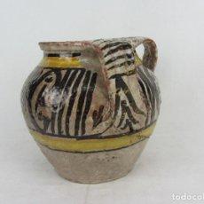 Antigüedades: JARRA EN CERÁMICA DE DOBLE ASA POSIBLEMENTE PUENTE DEL ARZOBISPO - S.XIX. Lote 249493145