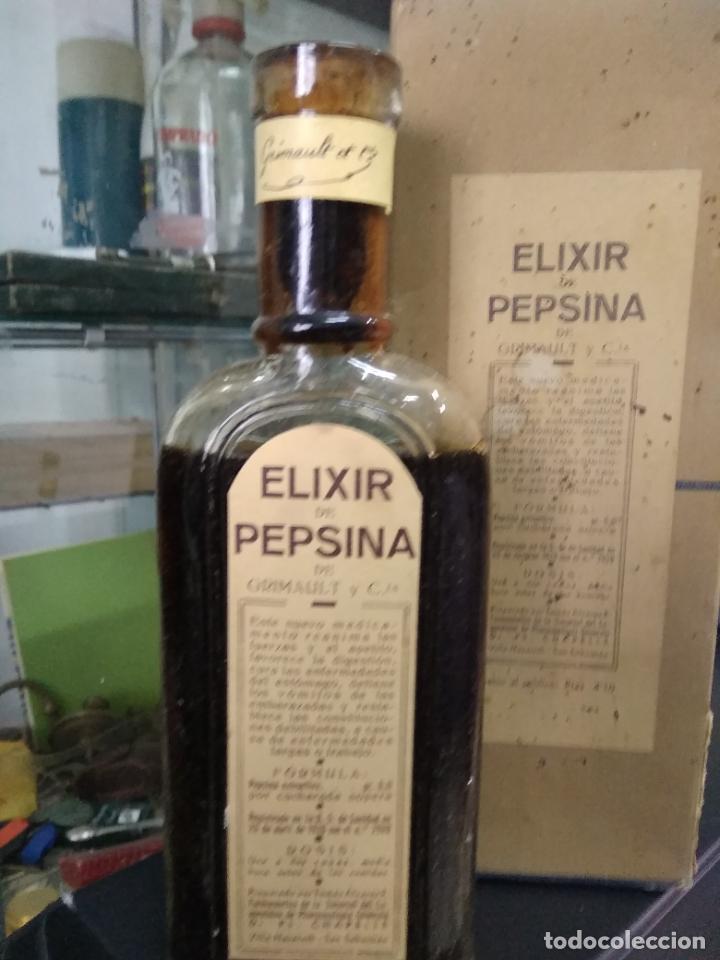 Antigüedades: Elixir Pepsina grimault. Vitrina correos - Foto 2 - 249496945