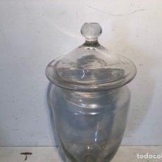 Antigüedades: BOTE FARMACIA DE VIDRIO SOPLADO, ISABELINO SIGLO XIX. Lote 249507715