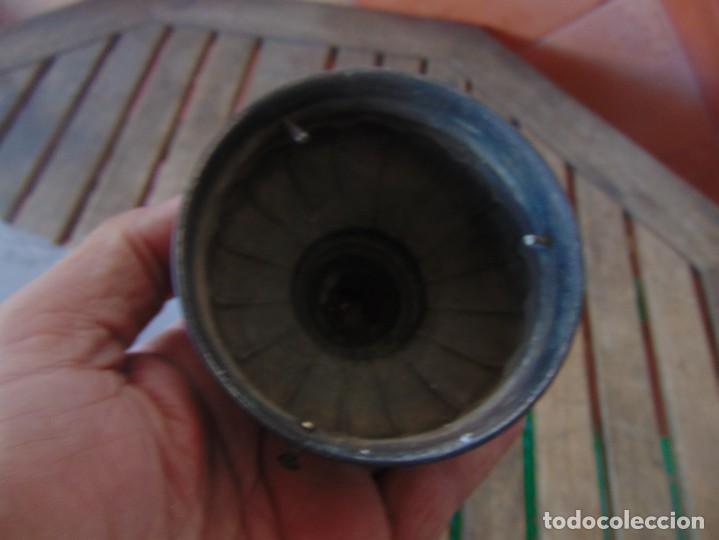 Antigüedades: TULIPA CON PARTE BAJA DE LAMPARA EN CRISTAL TALLADO, CON DECORACIÓN DE FLORES - Foto 12 - 249508575