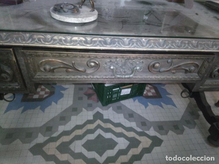 Antigüedades: ~~~~ ESPECTACULAR ANTIGUO DESPACHO RENACIMIENTO ESPAÑOL, MADERA TALLADA, CRISTALERAS EMPLOMADAS ~~~~ - Foto 18 - 249583375