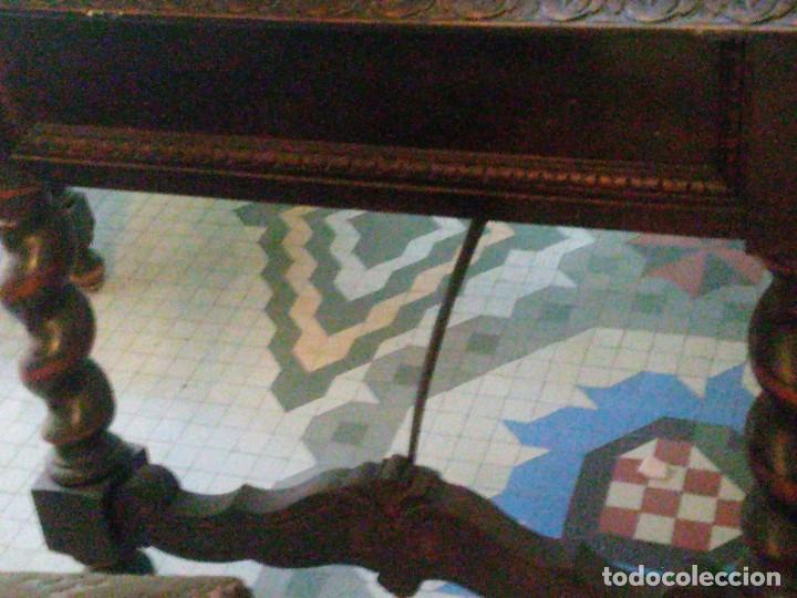 Antigüedades: ~~~~ ESPECTACULAR ANTIGUO DESPACHO RENACIMIENTO ESPAÑOL, MADERA TALLADA, CRISTALERAS EMPLOMADAS ~~~~ - Foto 21 - 249583375